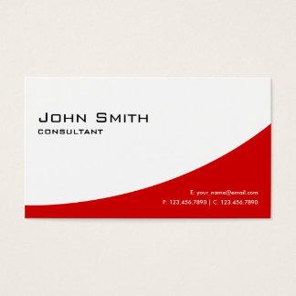 Immobiliers modernes élégants rouges simples cartes de visite