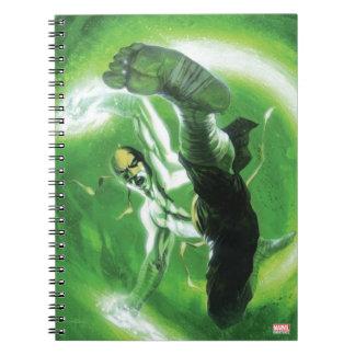 Immortal Iron Fist Kick Spiral Notebook