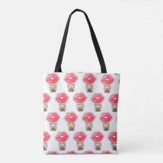 imoji red  lips  All-Over-Print Tote Bag