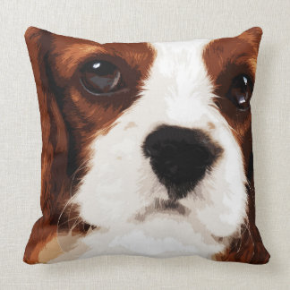"""IMPACT -color-""  - Cavalier King Charles Spaniel Throw Pillow"