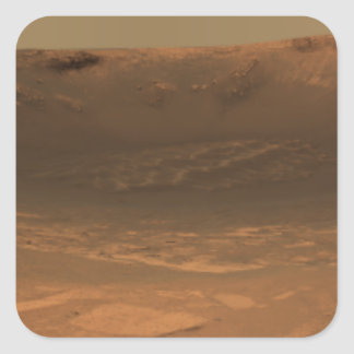 Impact crater Endurance on the surface of Mars Square Sticker