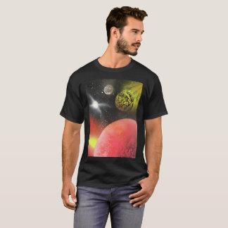 """Impact Imminent"" spray paint art on t-shirt"