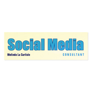 Impact Social Media Consultant Pack Of Skinny Business Cards
