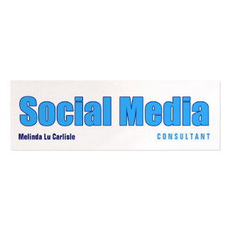 Impact Social Media Consultant w/ QR Code Pack Of Skinny Business Cards