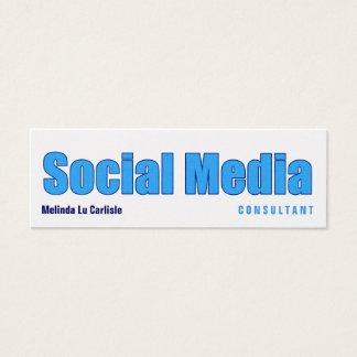 Impact Social Media Consultant w/ QR Code Mini Business Card