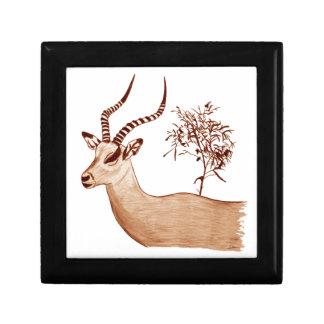 Impala Antelope Animal Wildlife Drawing Sketch Gift Box