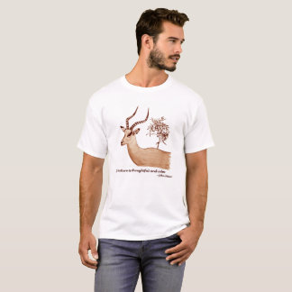 Impala Antelope Animal Wildlife John Muir Quote T-Shirt