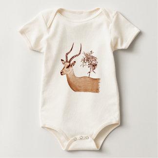 Impala Antelope Drawing Sketch Baby Bodysuit