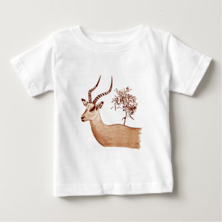 Impala Antelope Drawing Sketch Baby T-Shirt