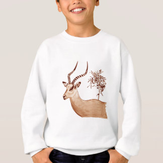 Impala Antelope Drawing Sketch Sweatshirt