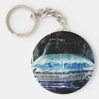 Impala Basic Round Button Keychain