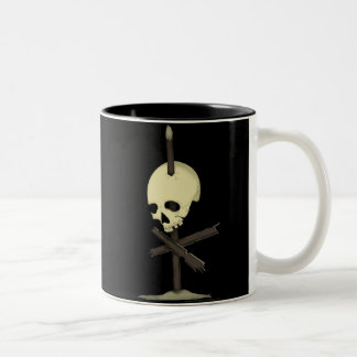 Impaled Skull Two-Tone Coffee Mug