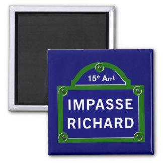 Impasse Richard, Paris Street Sign Magnet
