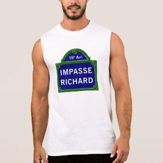 Impasse Richard, Paris Street Sign Sleeveless Shirt
