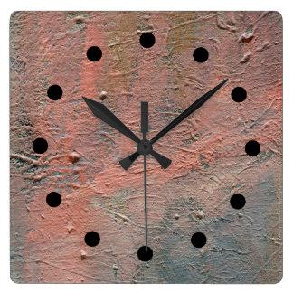 Impasto Abstract Acrylic Clock