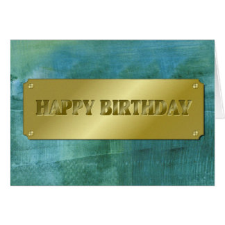 Impasto-Happy Birthday Card