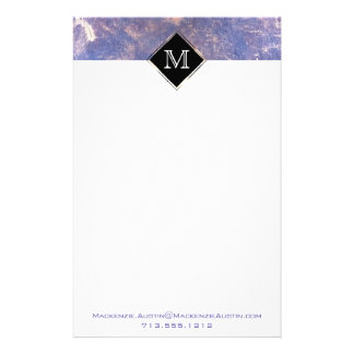 Impatient Office | Monogram Purple Gold Splatter Stationery