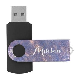 Impatient Tech   Name Plum Purple Gold Splatter USB Flash Drive