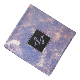 Impatient Unique | Monogram Purple Gold Splatter Bandana