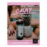 Impatiently Shady Poster - Pink Branded
