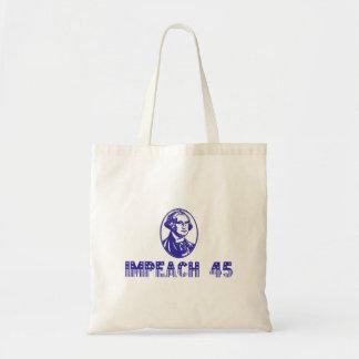 Impeach 45 (Blue Washington) Tote Bag