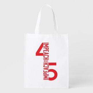 IMPEACH #45 RESIST REUSABLE GROCERY BAG
