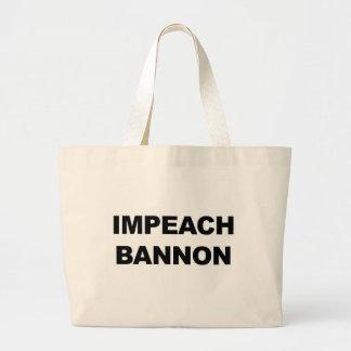 IMPEACH BANNON LARGE TOTE BAG