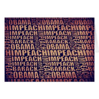 Impeach Barack Obama Greeting Card