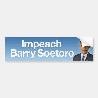 Impeach Barry Soetoro Bumper Sticker