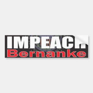Impeach Bernanke Bumper Sticker