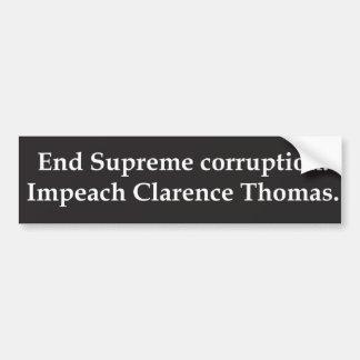 Impeach Clarence Thomas Bumper Sticker