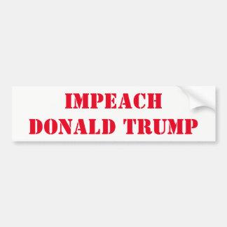 """""""Impeach Donald Trump"""" bumper sticker"""