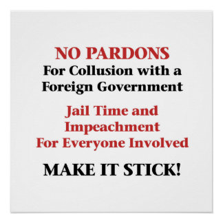 Impeach -- No Pardons for Collusion Poster