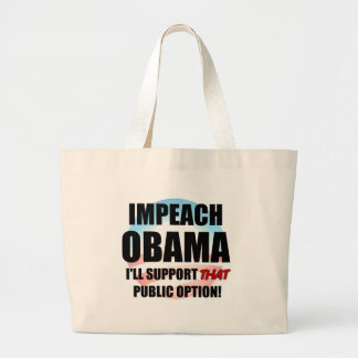 Impeach Obama Large Tote Bag