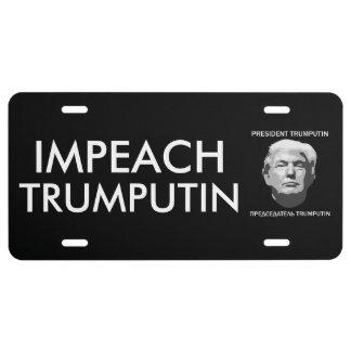 Impeach President TrumPutin License Plate