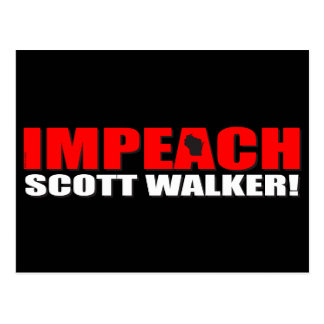 Impeach Scott Walker Postcard