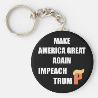 Impeach Trump Basic Round Button Keychain