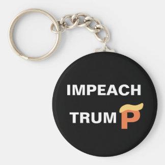 Impeach Trump Basic Round Button Keychain