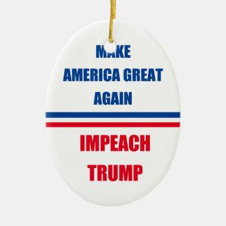 Impeach Trump Ceramic Oval Ornament