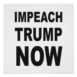 IMPEACH TRUMP NOW Protest Sign Perfect Poster