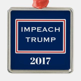 Impeach Trump Red White Blue Template Metal Ornament