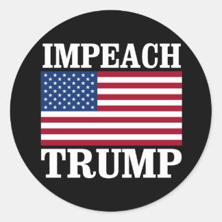 Impeach Trump - Save America -- Anti-Trump Design  Classic Round Sticker