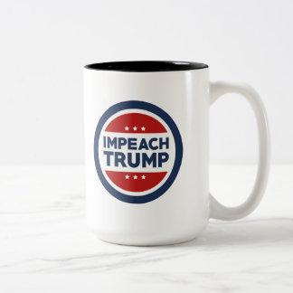 Impeach Trump Two-Tone Coffee Mug