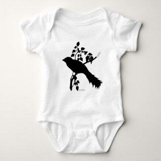 Impediment Cuban Trogon silhouette Baby Bodysuit