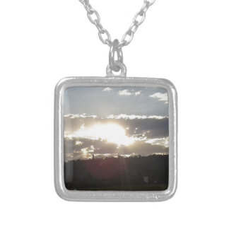 Imperani Sunset Silver Plated Necklace