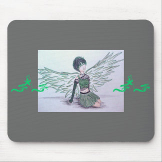 """Imperfect Angel"" (green) Mousepad"