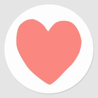 imperfect heart (salmon) classic round sticker
