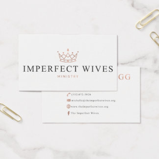Imperfect Wives Ministry - Michelle Business Card