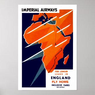 Imperial Airways Africa Poster