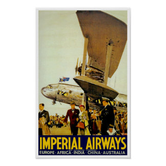 Imperial Airways Arrival Poster